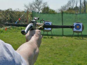 shooting pistol crossbow